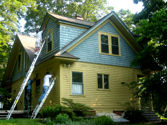 Exterior house painters exterior painting contractors ct for House painting connecticut